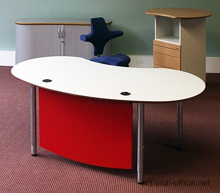 infinitydesign e-style fengshui schreibtisch 191cm mit holzprotection in rot