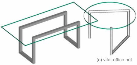 Chefschreibtisch und Besprechungstisch Glastisch Bauhaus ...