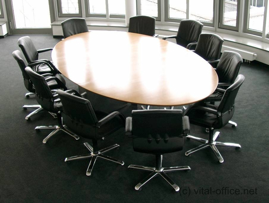 konferenztische konferenztische medium f r 10 20 personen mit integrierter medientechnik. Black Bedroom Furniture Sets. Home Design Ideas